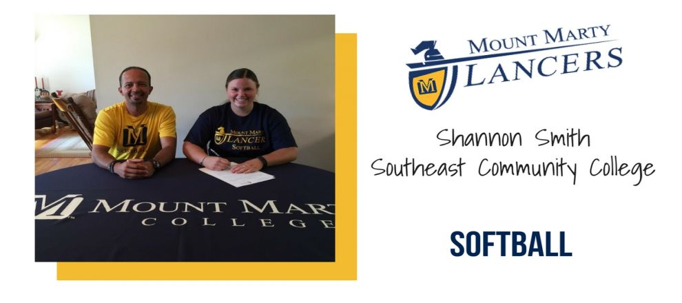Region 9 Champion infielder Shannon Smith signs with Mount Marty College for the upcoming Lancer Softball season.