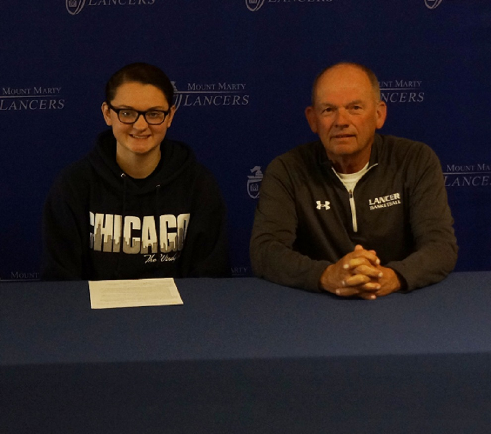 Allison Ekroth with Head Coach Tom Schlimgen