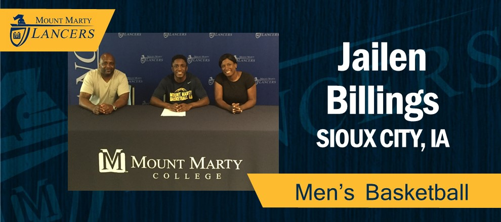 Jailen Billings Signs with MMC.  Pictured (left to right), Mason Billings (Father), Jailen Billings, Tunisia May (Mother)